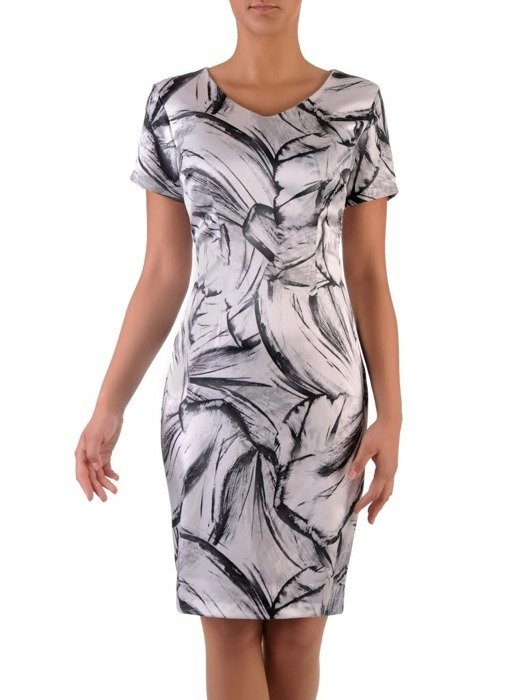 Sukienka z satyny Sonia, wiosenna kreacja w klasycznych kolorach