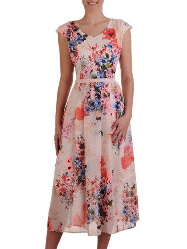 Sukienka z szyfonu 16547, zwiewna kreacja na wiosnę, lato.