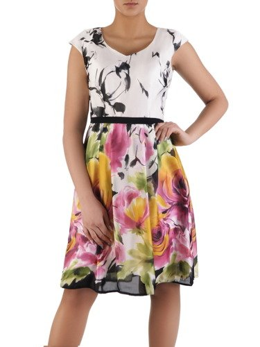 Sukienka z szyfonu Dolorez I, zwiewna kreacja na wiosnę.