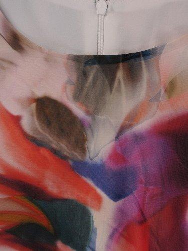 Sukienka z szyfonu Trini I, zwiewna kreacja wiosenna.