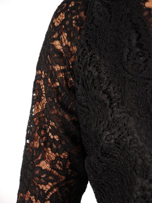 Sukienka z tkaniny i gipiury, kreacja w rozkloszowanym fasonie 22831