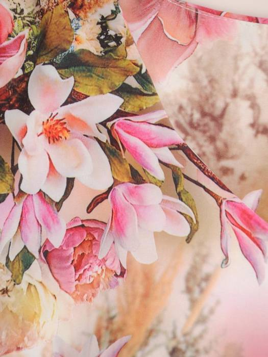 Sukienka z tkaniny, prosta kreacja w oryginalnym wzorze 26501