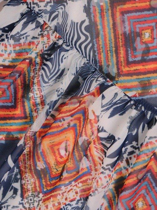Sukienki z falbanami, zwiewna kreacja z szyfonu 25562