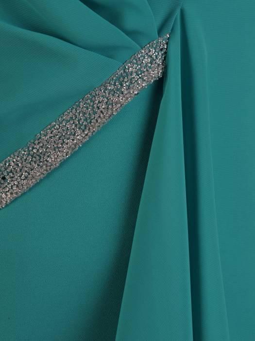 Szmaragdowa sukienka na wesele w wyszczuplającym fasonie 26322