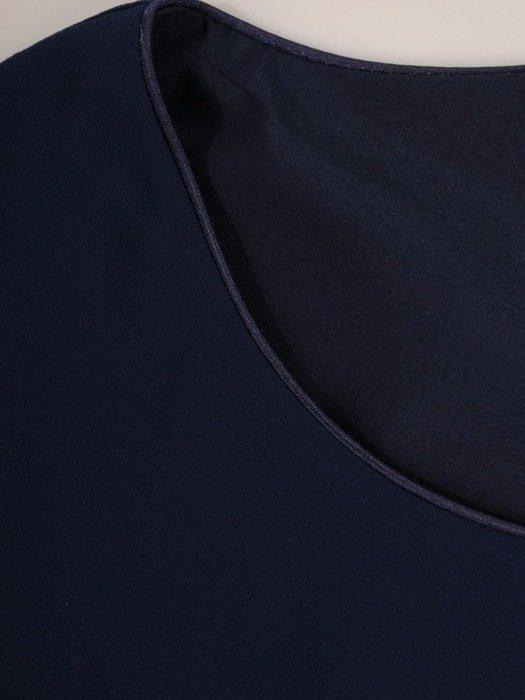 Szyfonowa sukienka maxi, kreacja z maskującą narzutką 24357