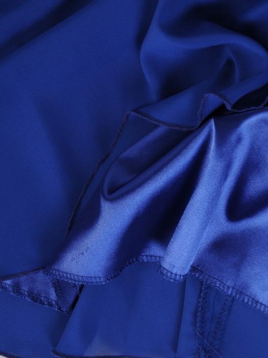Szyfonowa sukienka z zakładkami imitującymi żakiet 21844