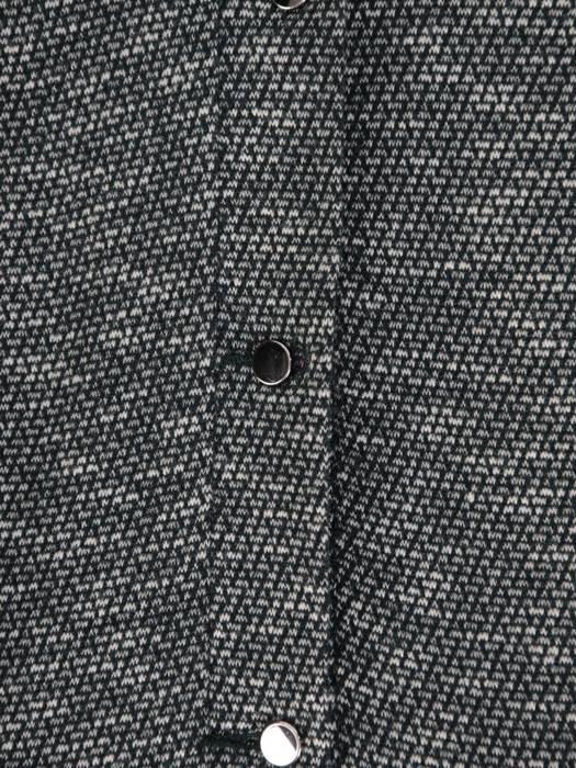 Trapezowa sukienka z falbanami, kreacja z gumkami na rękawach 26997