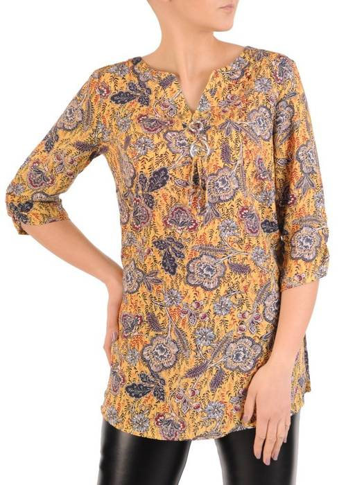 Tunika z tkaniny w wiosennej kolorystyce 29039