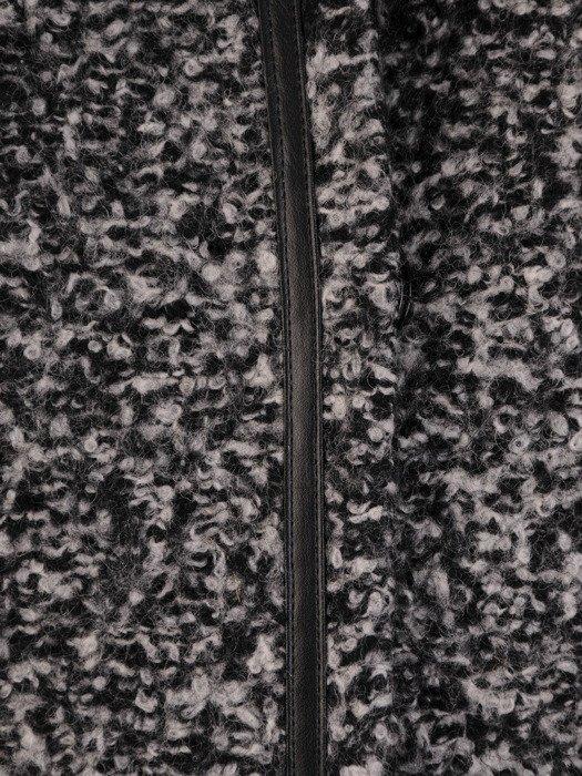 Wełniany płaszcz ze skórzanymi lamówkami Melania II.