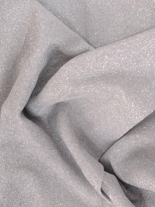Wieczorowa sukienka kopertowa, kreacja z połyskującej dzianiny 30147