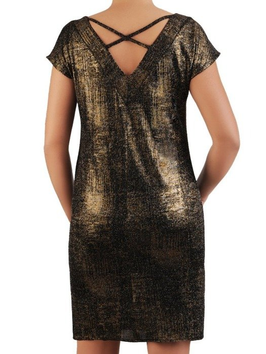 Wieczorowa sukienka z ozdobnym wycięciem na plecach 24222