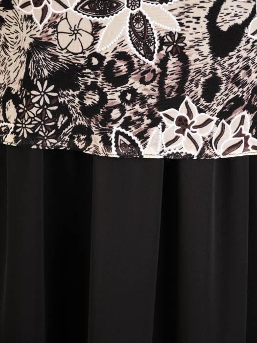 Wizytowa sukienka damska, kreacja w luźnym fasonie 30176