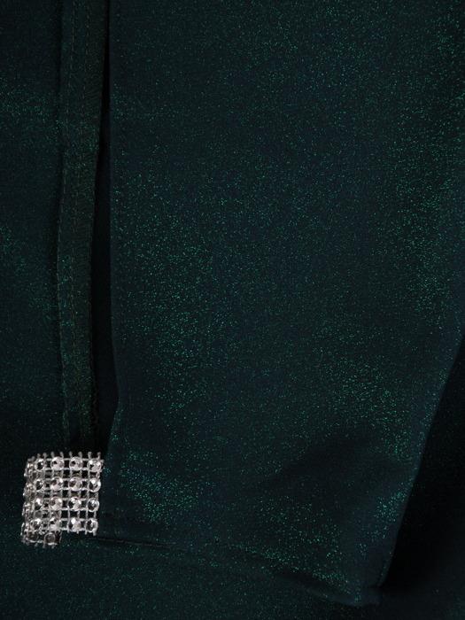 Wizytowa sukienka z kieszeniami, kreacja z ozdobnymi rękawami 22806