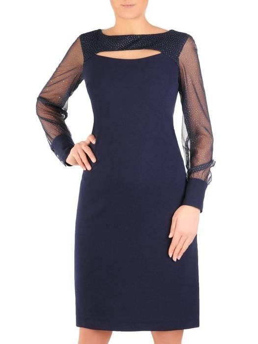 Wizytowa sukienka z modnie wyciętym dekoltem 28217
