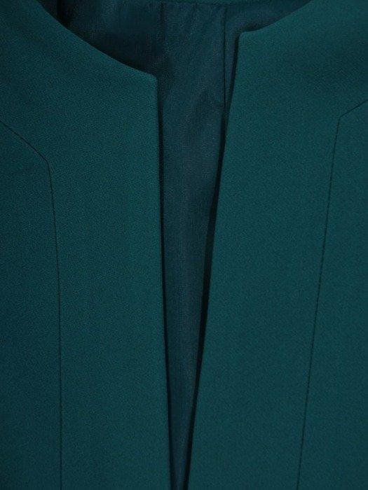 Wizytowy płaszcz zapinany na ozdobny guzik 24414