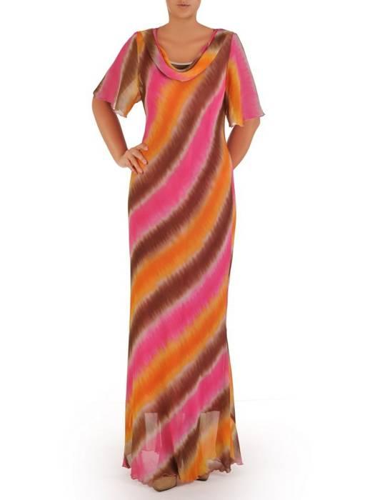 """Wyjściowa sukienka z dekoltem typu """"woda"""" 26946"""