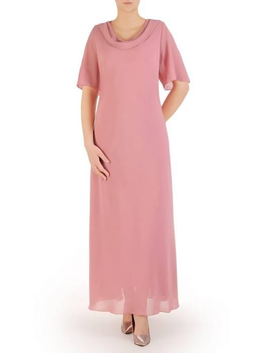 """Wyjściowa sukienka z dekoltem typu """"woda""""  29369"""