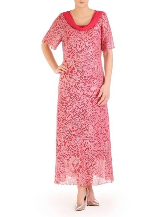 """Wyjściowa sukienka z dekoltem typu """"woda""""  29436"""