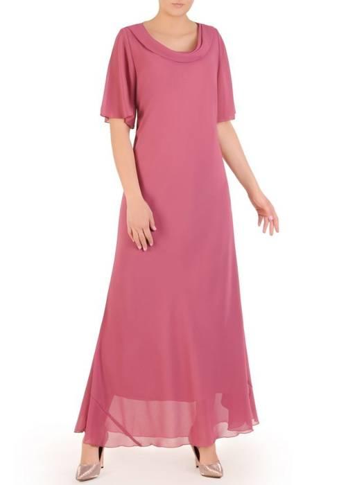 """Wyjściowa sukienka z dekoltem typu """"woda"""" 29876"""