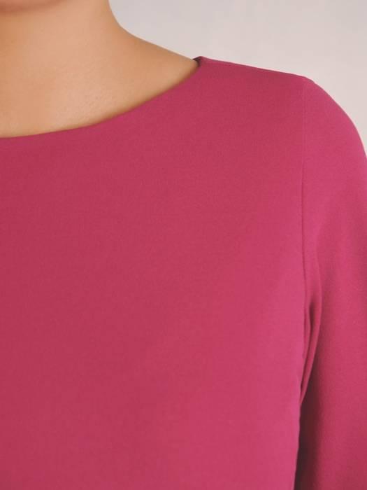 Wyszczuplająca sukienka damska, kreacja z kontrastowymi wstawkami 30419