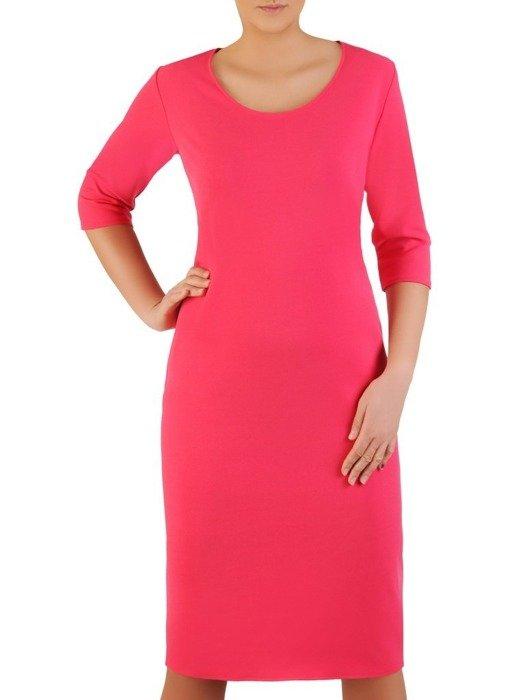 Wyszczuplająca sukienka z bocznymi kieszeniami 22793