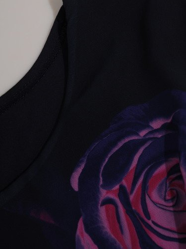 Wzorzysta bluzka bez rękawów 14966.