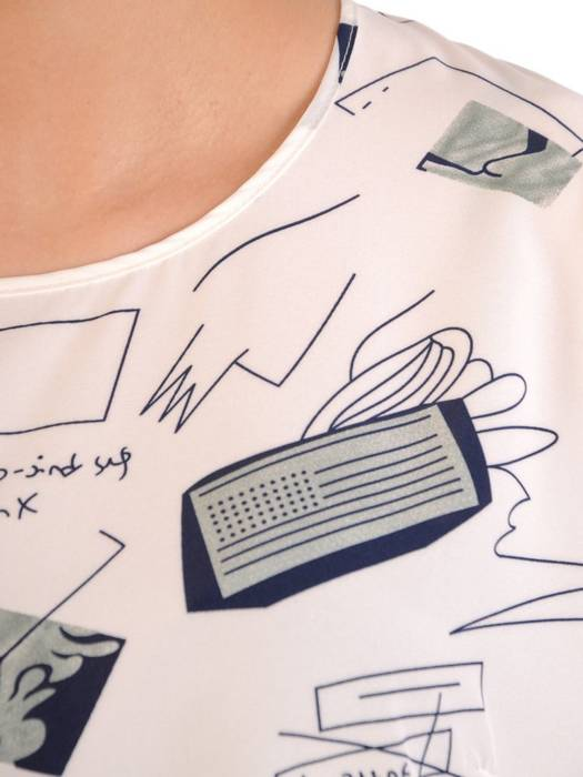 Wzorzysta bluzka z tkaniny 29569