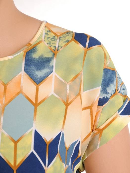 Wzorzysta bluzka z tkaniny 29983