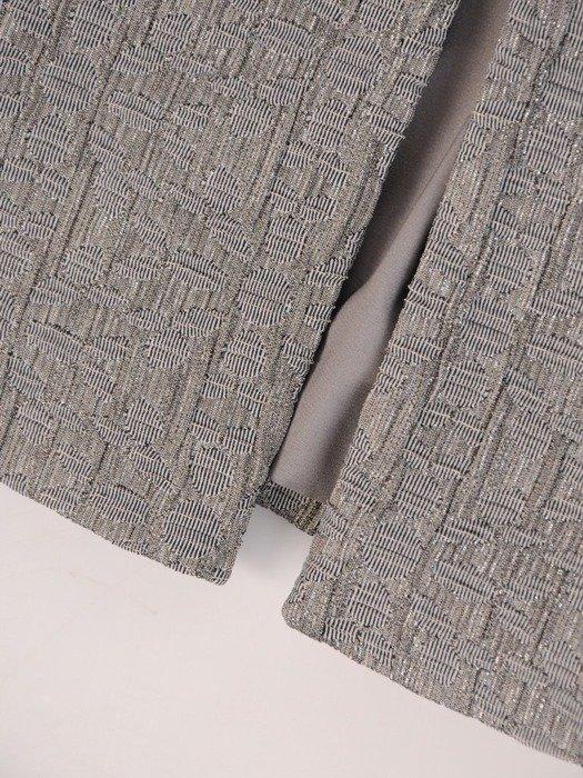 Żakiet damski z tkaniny żakardowej 24090