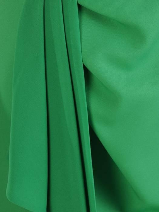 Zielona elegancka sukienka, kreacja z modnym wiązaniem na plecach 28198