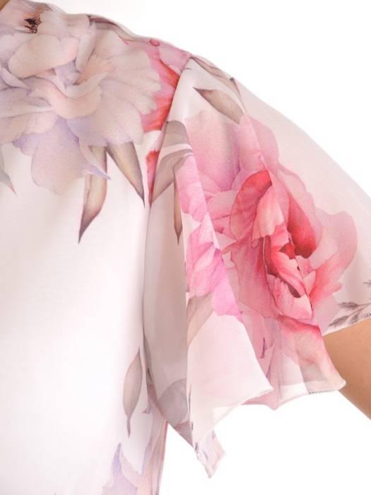 Zwiewna sukienka w kwiaty, kreacja na lato 29513