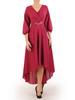Asymetryczna sukienka z szyfonu z ozdobą w pasie 30906