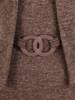 Beżowa dzianinowa sukienka, kreacja z imitacją żakietu 28155