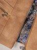 Beżowy zamszowy żakiet zapinany na suwak 25282