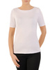 Biała bluzka z miękkiej dzianiny 30940