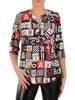 Bluzka damska w modnym wzorze 28182