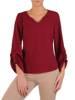 Bluzka damska z marszczonymi rękawami 28111