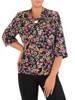 Bluzka damska z ozdobną kokardą 27203