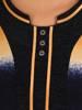 Cieniowana bluzka z ozdobnymi guzikami przy dekolcie 27906