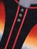 Cieniowana bluzka z ozdobnymi guzikami przy dekolcie 27907