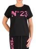 Czarna bluzka damska z dzianiny 28273
