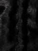 Czarny krótszy płaszczyk  z miękkiego, przyjemnego futra 30954