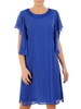 Dwuwarstwowa sukienka wieczorowa z luźnymi rękawami 31231