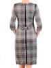 Dzianinowa sukienka w kratę z wyszczuplającymi wstawkami 31082