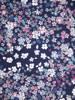 Dzianinowa sukienka w kwiaty, prosty fason z dekoltem w serek 28811