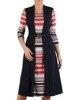 Dzianinowa sukienka z elegancką imitacją żakietu 24690