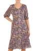 Dzianinowa sukienka z szyfonowymi rękawkami i plisami 29145