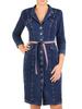 Dżinsowa szmizjerka, bawełniana sukienka z paskiem 30682