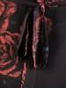 Elegancka sukienka maxi, kreacja z ozdobnymi rozcięciami na rękawach 30020