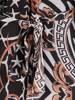 Elegancka sukienka maxi, kreacja z ozdobnymi rozcięciami na rękawach 30021
